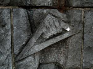 sokkel detail - foto: loek van vlerken 08.02.2011