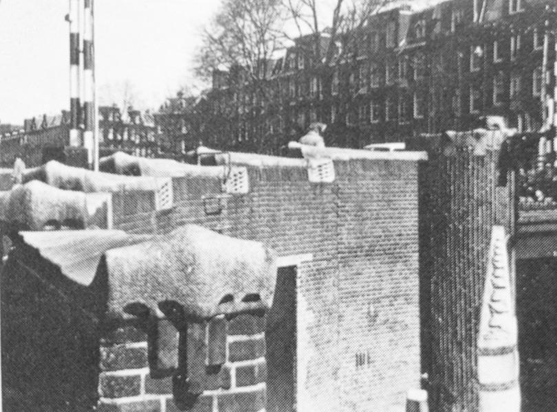 brugdeel - situatie voor 1966 - foto: peter evers/wim de boer - amsterdamse bruggen, 1983