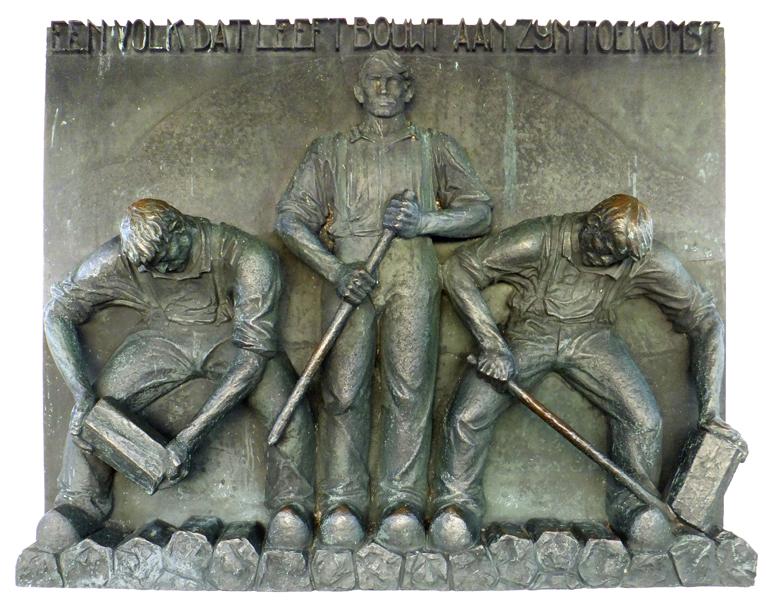 relief monument afsluitdijk - foto: loek van vlerken 26.12.2012