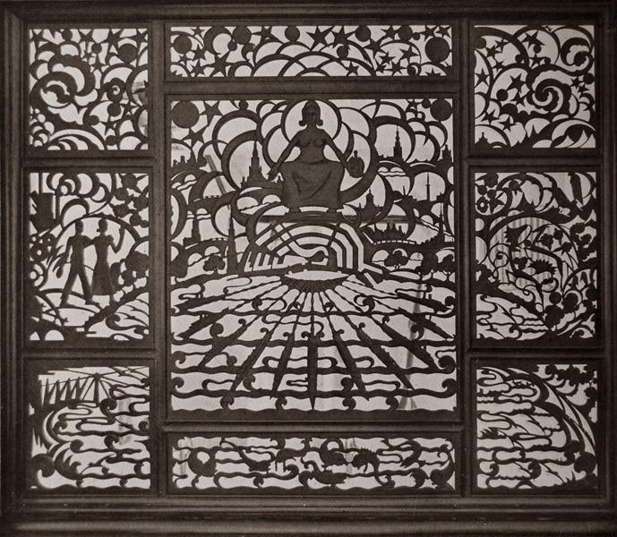 ajourreliëf - foto: uitzichten en stroomingen in de kunstnijverheid -1928