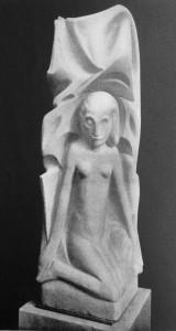 detail grafmonument 'droefheid' - foto: wendingen jrg.1927 nr.1 - collectie loek van vlerken