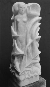 detail grafmonument 'vreugde' - foto: wendingen jrg. 1927 nr.1 - collectie loek van vlerken