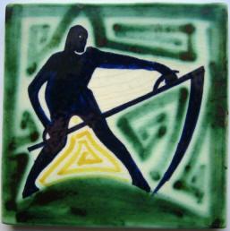 tegel - oogsten - ca1925 - foto: hildo krop museum