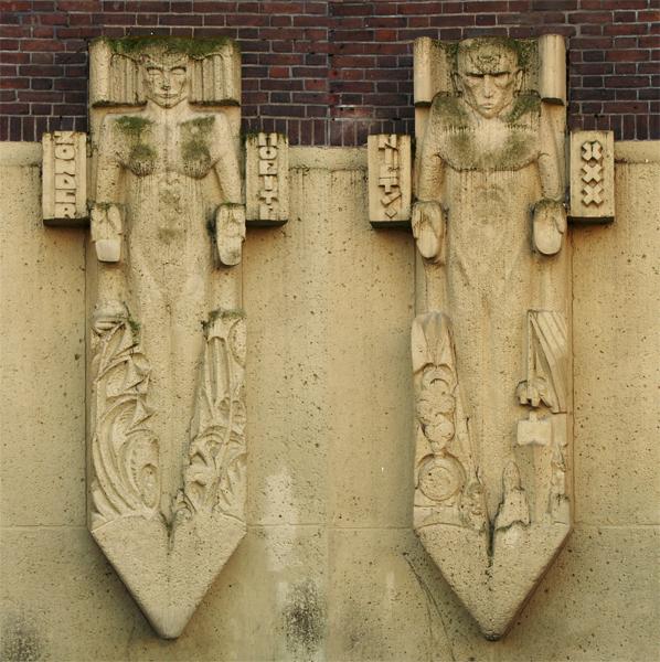 vrouw en man hoofdingang 'zonder moeite niets' - foto: loek van vlerken 15.03.2011