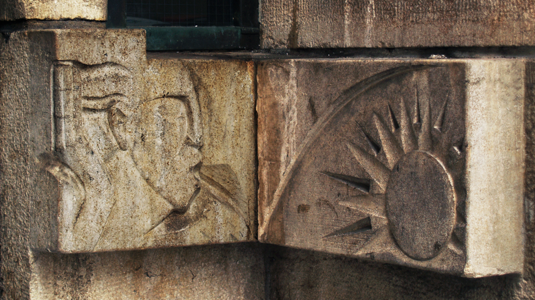 mannenkop en zon - foto: loek van vlerken 06.03.2012