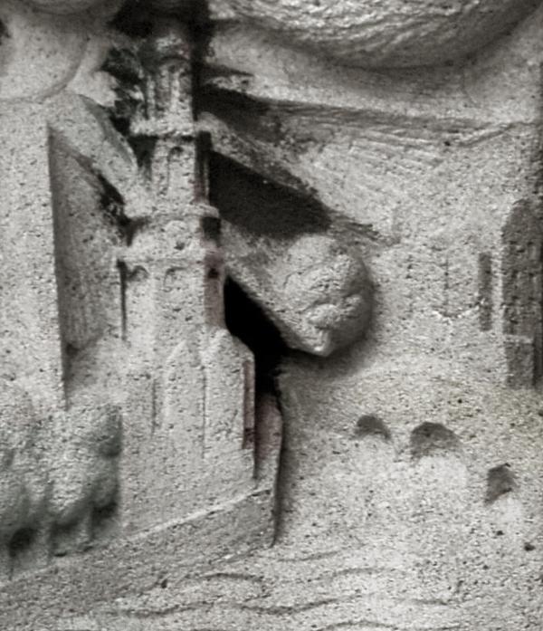 gevelsteen (detail) - foto: loek van vlerken 21.01.2011