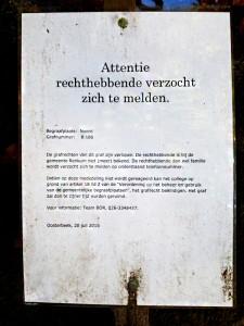 grafrechten - foto: loek van vlerken 27.10.2015
