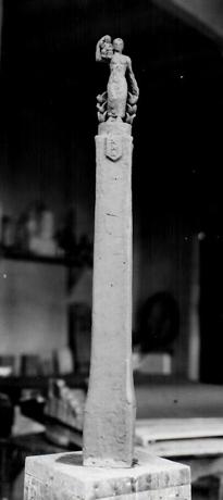 model op schaal in atelier- foto: hildo krop museum
