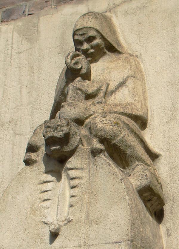 zittende vrouw met dier - foto: loek van vlerken - 10.04.2011