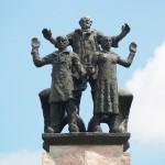 monument 'de ontmoeting tussen zee en land'