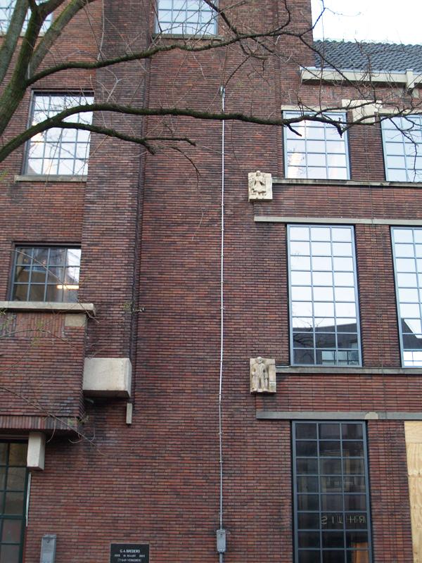 deel van gevel Sint Pietershalsteeg - foto: loek van vlerken 25.01.2016