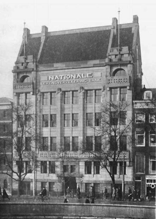 nationale levensverzekerings bank - historische foto 1925