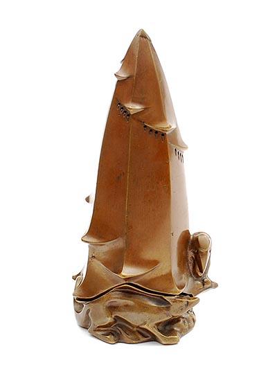 wierookbrander met vosje en kraai onder cypres - foto: botterweg auctions amsterdam - 2014