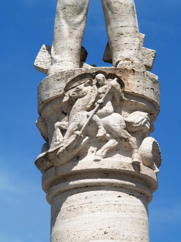 monument voor de gevallen werknemers van de ptt (detail) - foto: loek van vlerken 20.07.2012