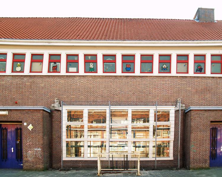 gevel school - foto: loek van vlerken 20.03.2011