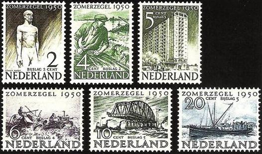 postzegels 'weldadigheidszegels' - zomer 1950 - collectie: loek van vlerken