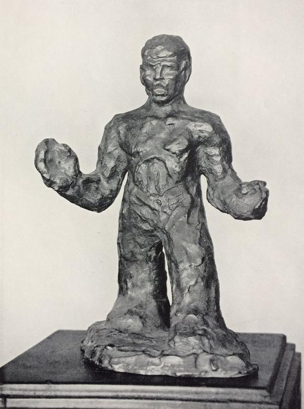 zingende man - foto: wendingen 1931-5/6 - collectie loek van vlerken