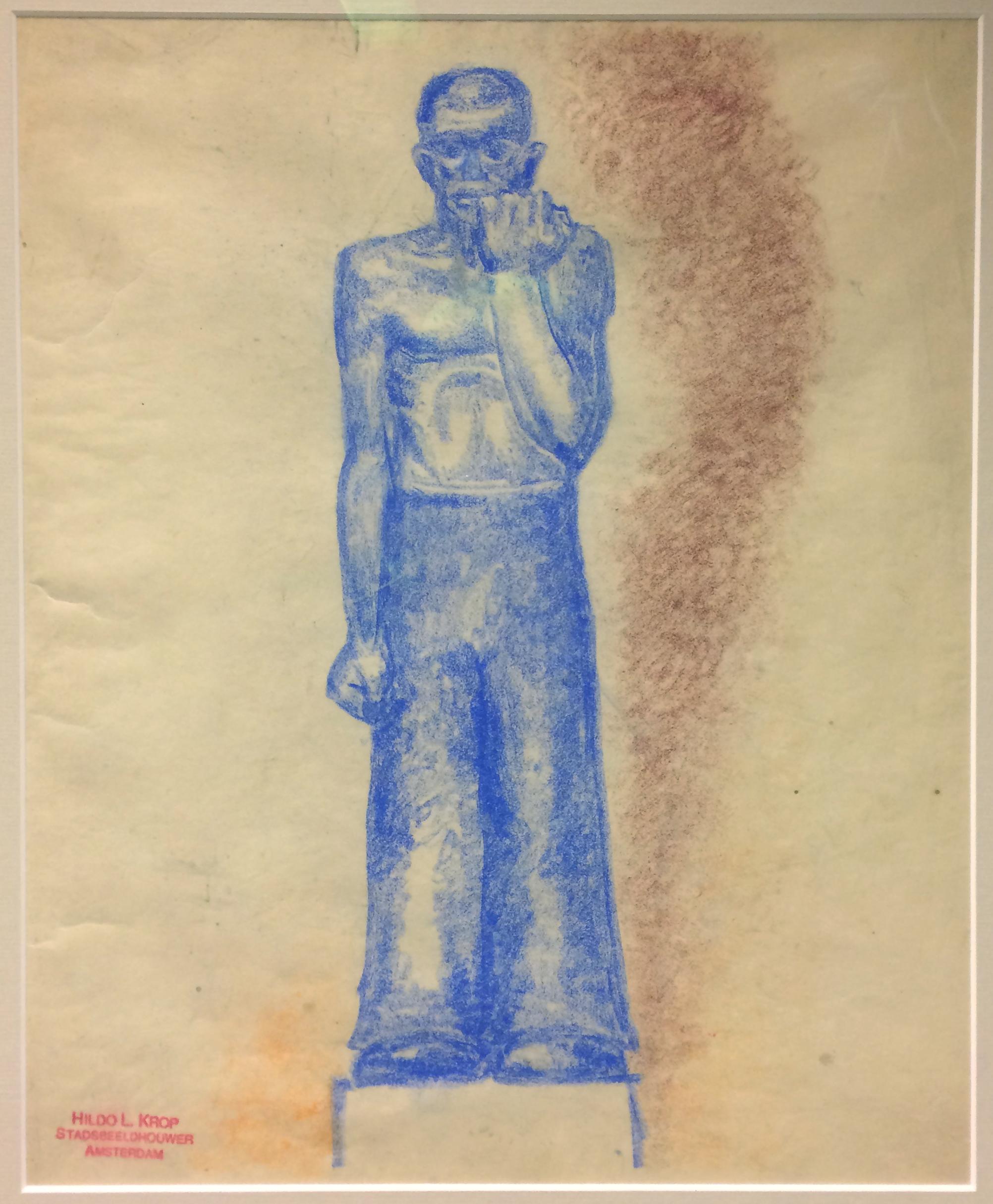 ontwerptekening-de-werkloze - collectie hildo krop museum, Steenwijk - foto: loek van vlerken 13-10-2016