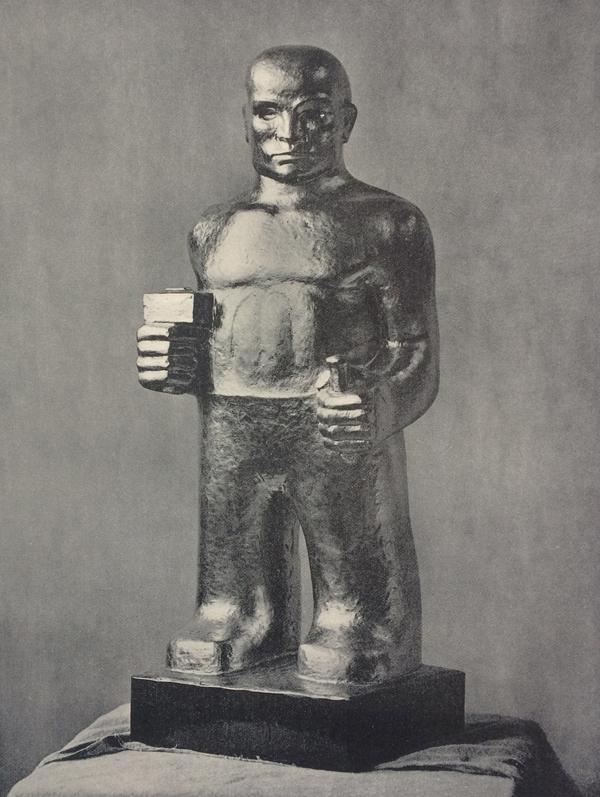 beeldhouwer - foto: wendingen-1931-5/6 - collectie loek van vlerken
