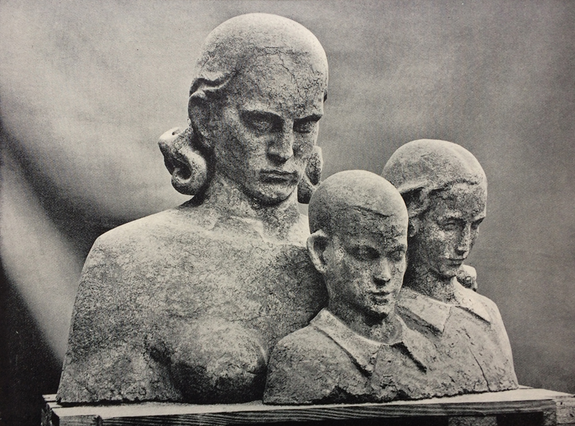 studie voor portretgroep - foto: wendingen 1931 - 5-6 - collectie loek van vlerken