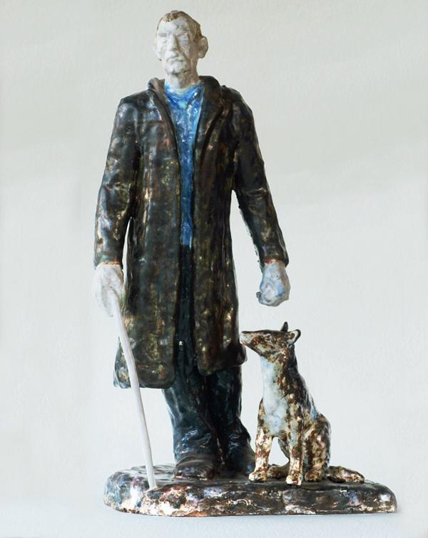 blinde man met hond - foto: hildo krop museum - arie van andel 2015