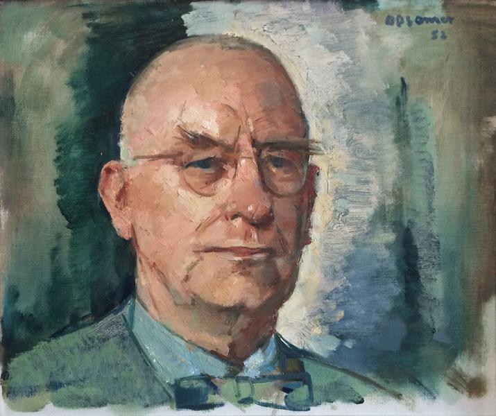 portret van hildo krop, 1952 door baron isidore opsomer - foto loek van vlerken 28.08.2017