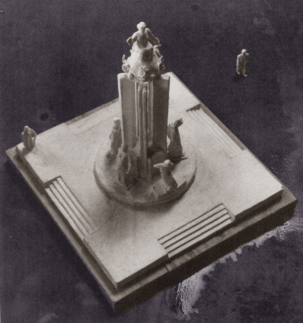 maquette monument voor de onbekende politieke gevangene - foto: lagerweij-polak