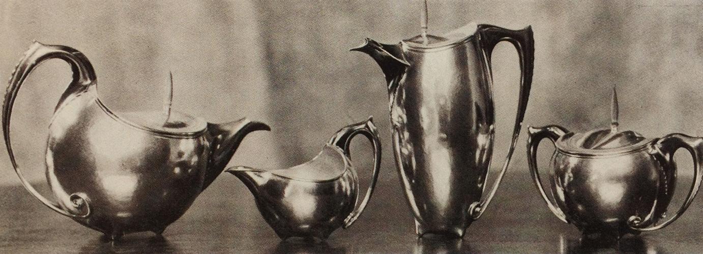 zilveren theeservies - historische foto: hildo krop museum