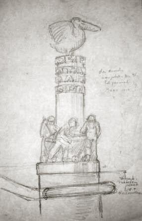 ontwerp erdal monument- afb.: hildo krop museum