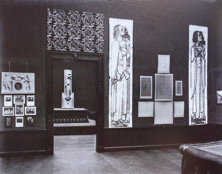 zaaloverzicht jubileumtentoonstelling nov.1915 - historische foto Bernard F. Eilers (archief hildo krop museum)