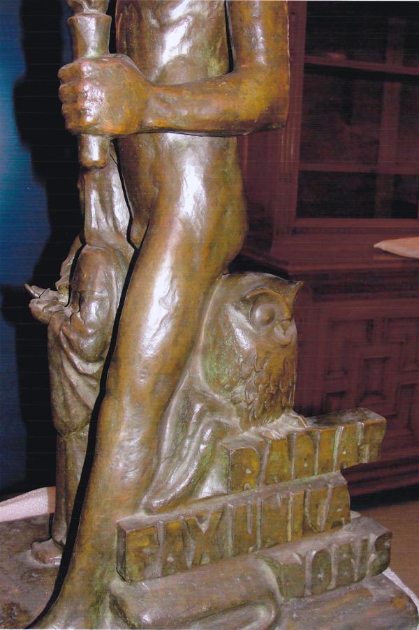 man met fakkel en st. apollonia (detail) - foto: hildo krop museum
