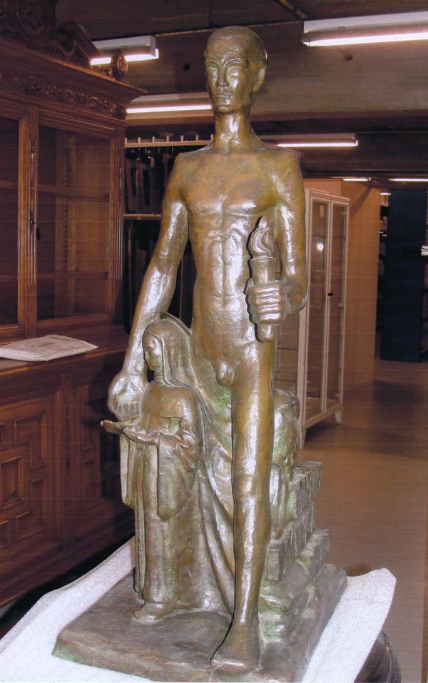 man met fakkel en st. apollonia - foto: hildo krop museum