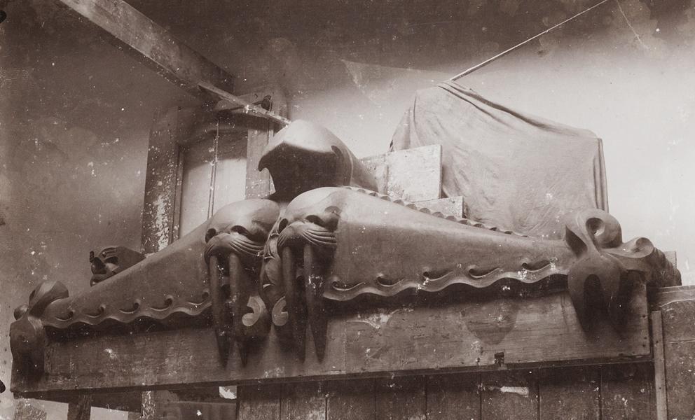 beeldhouwwerk in klei - foto: stadsarchief amsterdam - collectie kerbert (fotograaf onbekend) – 1913