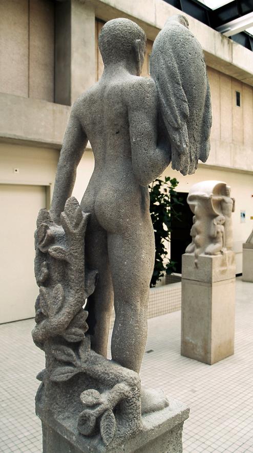 man met arend (krop) / boogschutter (willem ijzerdraat) - foto: loek van vlerken 12.04.2011
