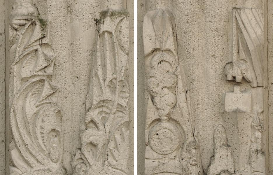 detail hoofdingang - foto's: loek van vlerken 15.03.2011