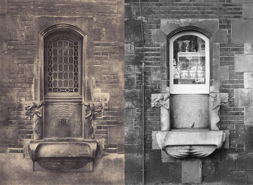 vergelijking fonteintje Munttoren - foto bewerking: loek van vlerken