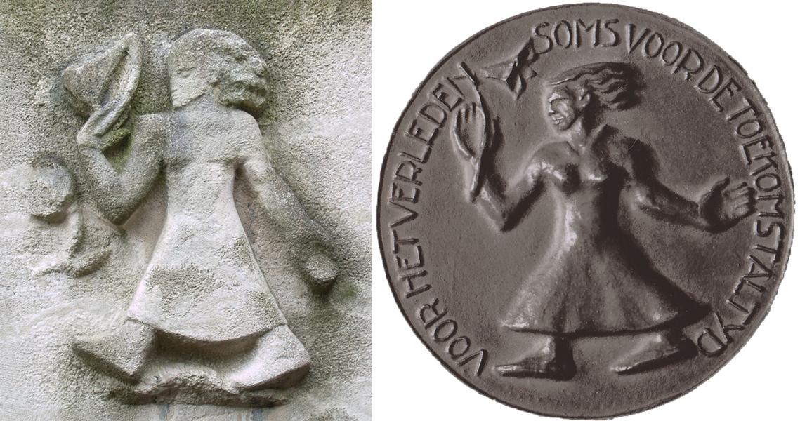 vrouw met kelkbloem - foto links: loek van vlerken-foto rechts: hildo krop museum