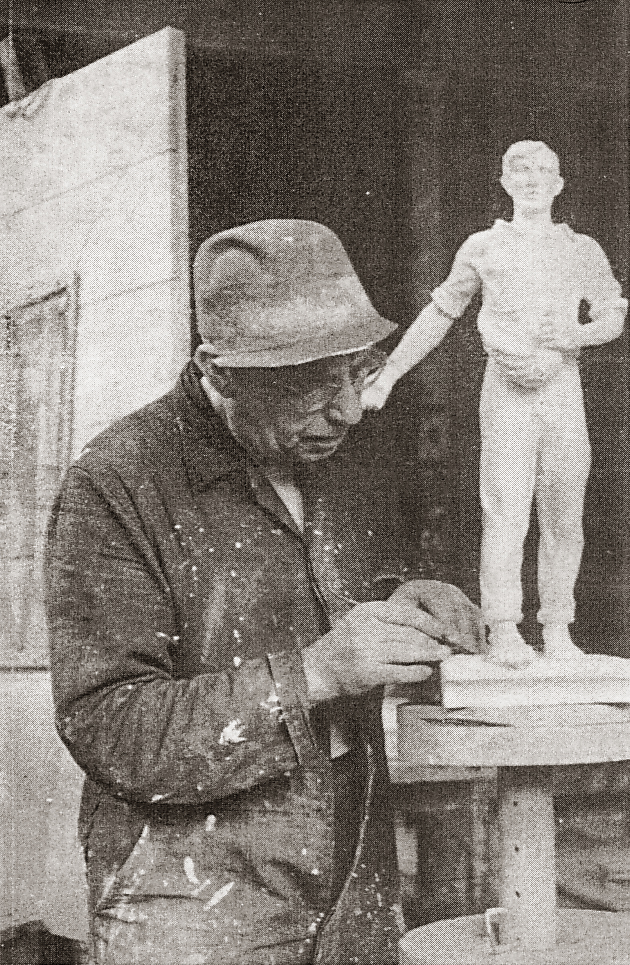 de zaaiende boer - foto: personeelsblad 'samen' - maandblad van hoogovens, juli 1950, nr.7