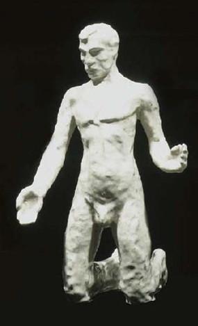geknield liggende man - foto: hildo krop museum