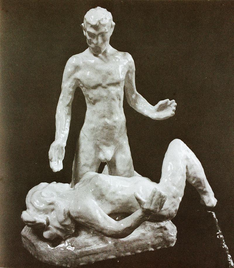 paar - foto: hildo krop beeldhouwer en ceramist, g.j.scherpel, 1984