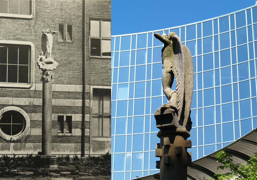 pieter de hoochstraat- historische foto: collectie hildo krop museum / la guardiaweg - foto: loek van vlerken 05.06.2013