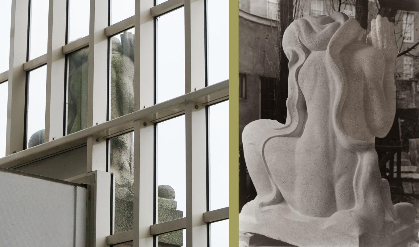 achterzijde moeder aarde - foto's: loek van vlerken 16.07.2019 (links) - archief hildo krop museum, steenwijk (Rechts)