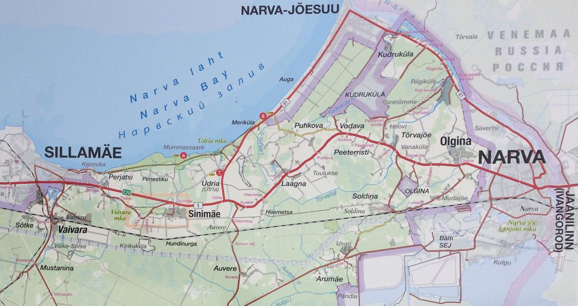 Vaivara regio kaart